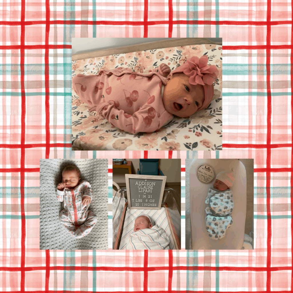 Addison Claire Lipari made her debut on January 14, 2021 at 1:23pm! Mom and baby are both recovering and doing very well! Erin Lipari is a first grade teacher at Hillcrest. Welcome to the TEAM family, Addison!