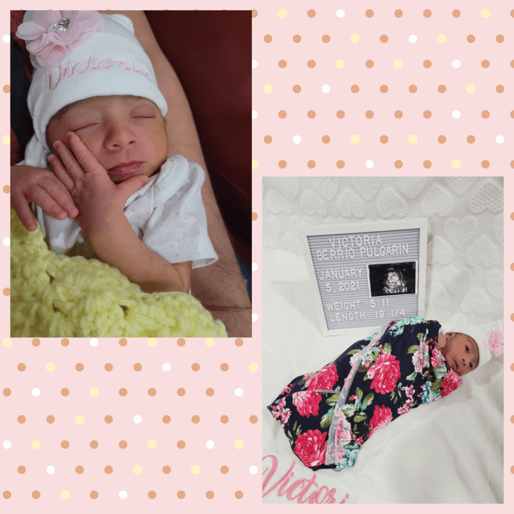 Sandra Pulgarin, WL Spanish teacher at MHS, and her husband, Mauro, welcomed Victoria to the world on January 5, 2021. Mom and baby are doing great!