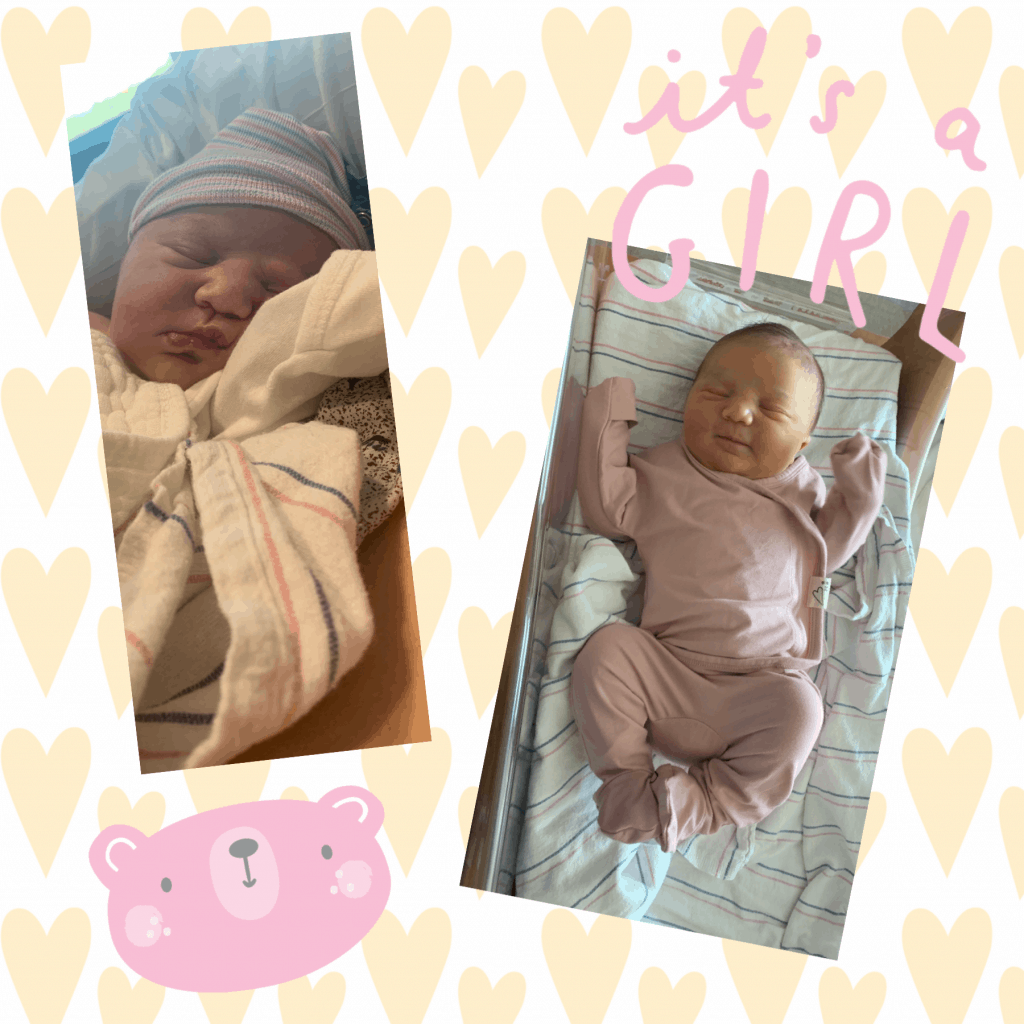Kristen Rudiger (MHS Psychologist) and her husband Ryan, welcomed a healthy baby girl, Brooklyn Cheryl Zieja, on Sunday, April 18th at 8:00pm. They are all healthy, happy and grateful!