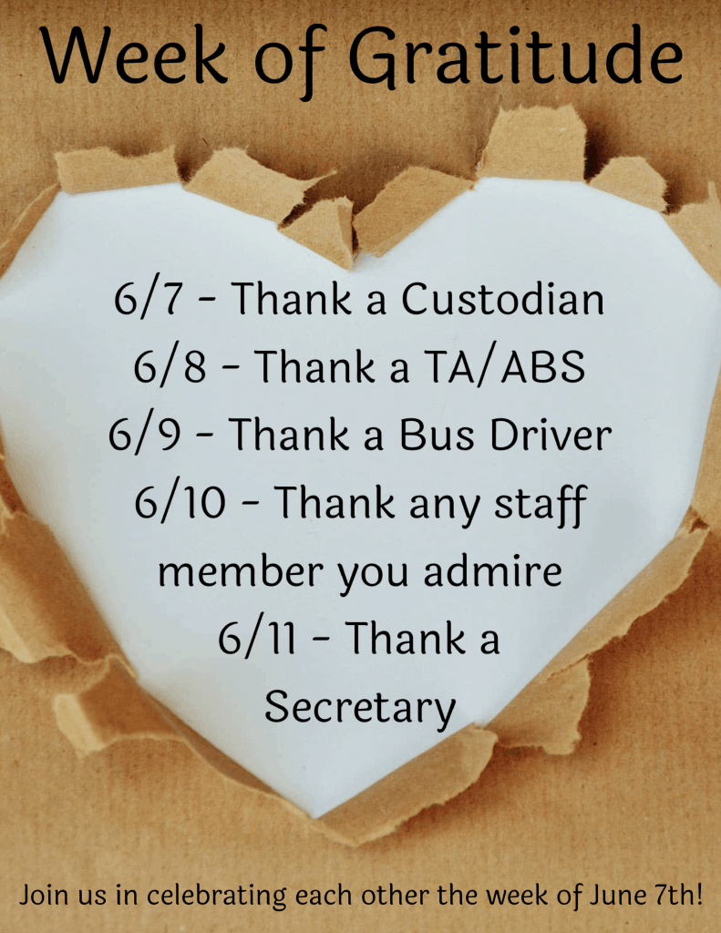 Celebrate our Week of Gratitude!