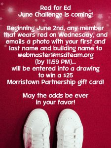Don't forget to join in on our Red for Ed June Challenge!